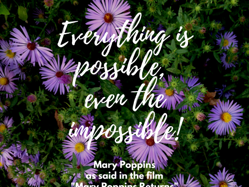 Everything is possible, even the impossible! From Mary Poppins Returns